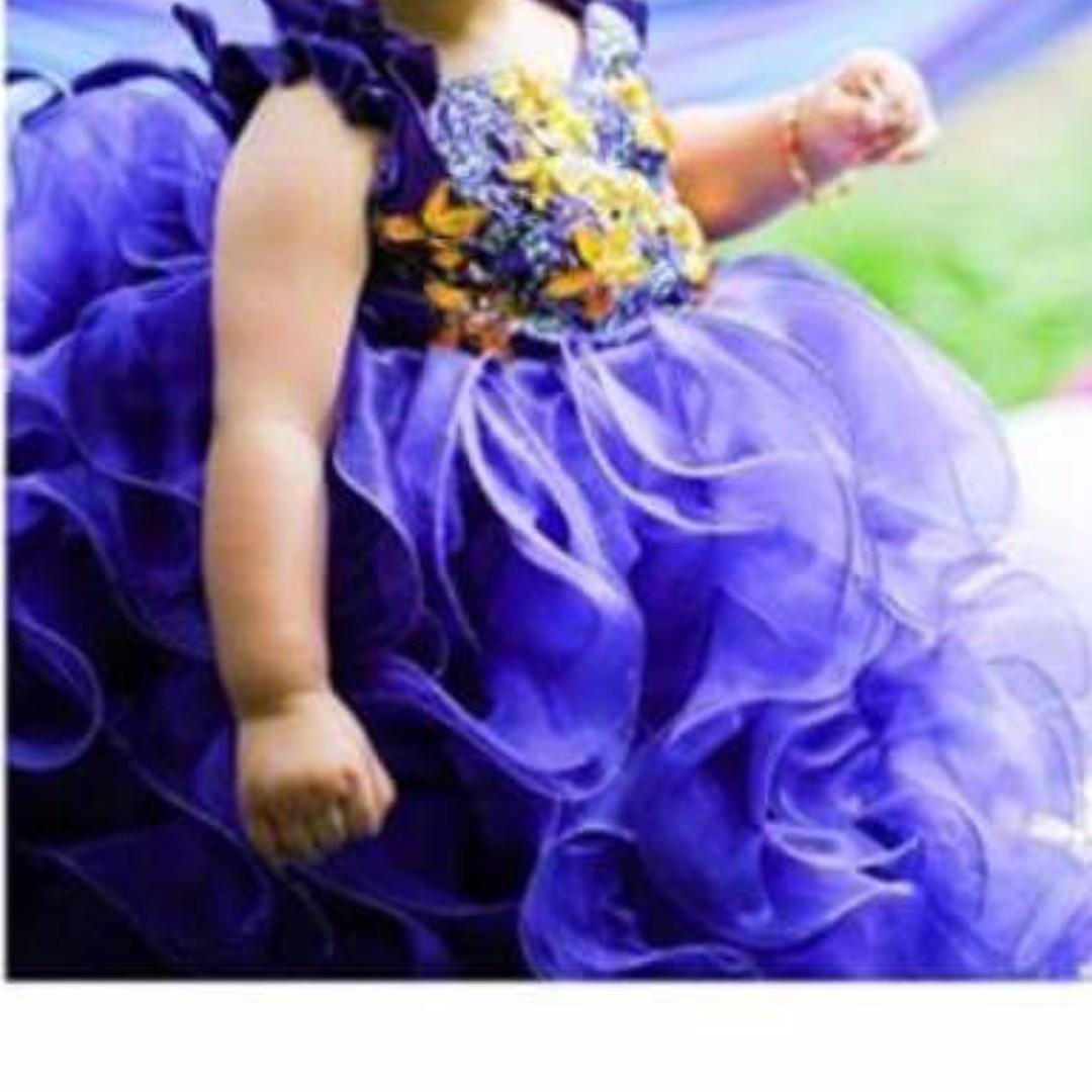 Violet gown