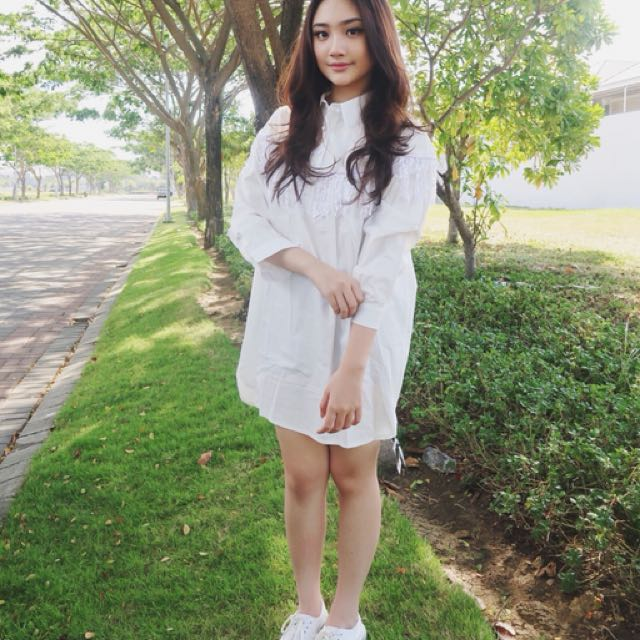White Loose Shirt Dress/Top