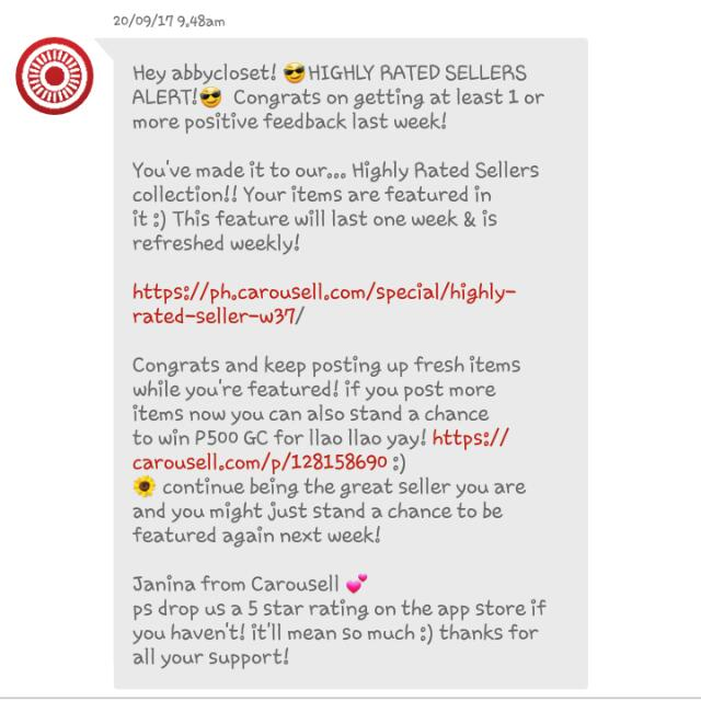 Yey!!😍 For 3rd time Feedback from Carousell!!💯✔ Thank you so much😙❤