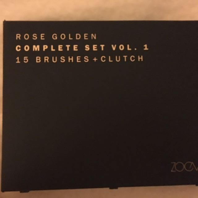 ZOEVA 15PC ROSE GOLD BRUSH SET