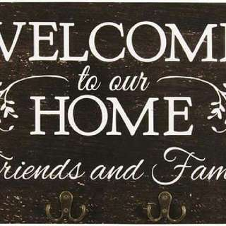 "Welcome to Our Home 12"" x 20"""