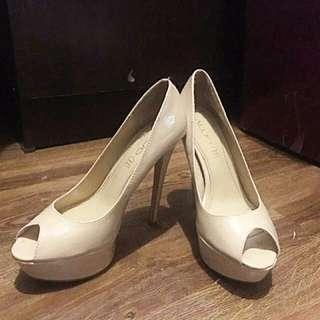ALDO Peep Toe Heels - Beige