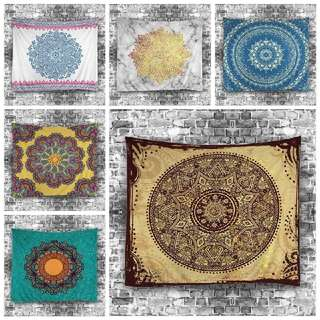 Bohemian Mandala Tapestry/ Wall Hanging Home Decor/ Bed cover