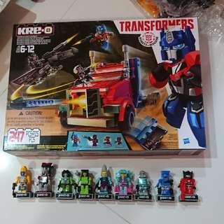 transformers kre o kreo optimus + 9 pcs robota