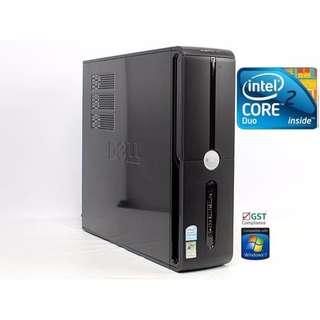 DESKTOP MINI TOWER DELL VOSTRO 220 SLIM / Core DUO/ 320GB HDD / 2GB/ WINDOWS 7 / MS OFFICE 2013