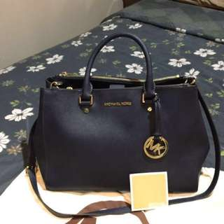 Michael Kors Sutton Large in Navy