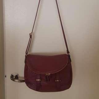 Maroon Saddle Bag