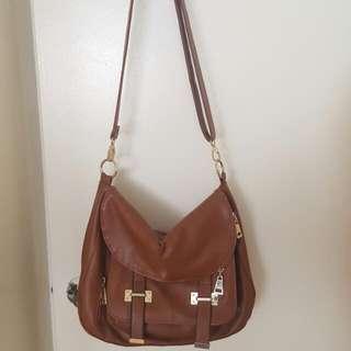 Brown Saddle Bag