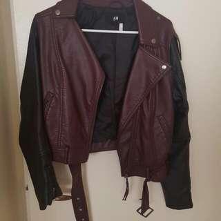 H&M Leatherr Jacket Size 8