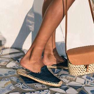 Soludos Frayed Denim Mule