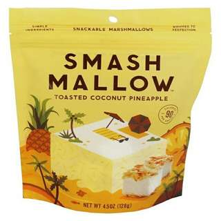 Smashmallows Toasted Coconut Pineapple Snackable Marshmallows 4.5 oz.