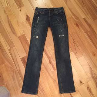 Dish Jeans, Straight Leg, Low rise