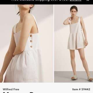Aritzia Wilfred free Mcovoy romper