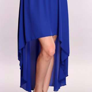Royal Blue High-Low Skirt