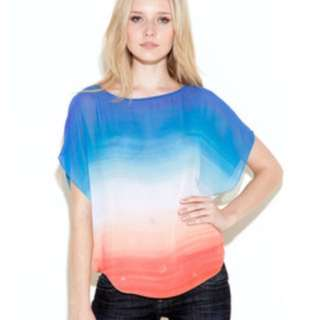Guess Multi Ombré Chiffon Shirt