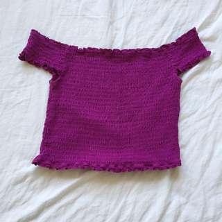 Off the shoulder - purple top