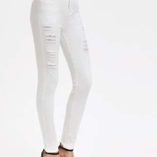 NEW Middle Rise Distressed Skinny Jeans
