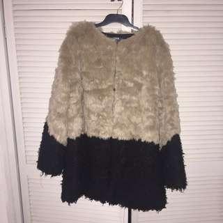 ASOS CURVE Plus Size Faux Fur Coat Brand New