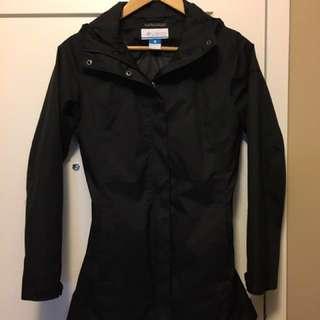 Women's Black Waterproof Columbia Rain Jacket