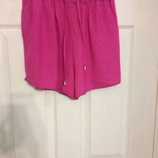 Hot pink shorts size medium(saboskirt )
