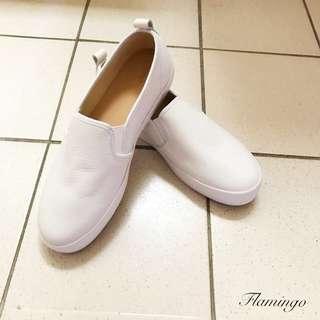 全新 白 懶人鞋 休閒
