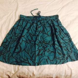 Grey and Green Gap Skirt