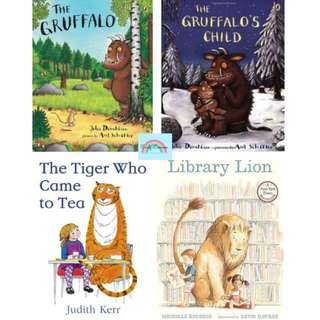FREE delivery★BN: Picture Book - The Gruffalo, Gruffalo's Child, Library Lion, Tiger Who Came to Tea