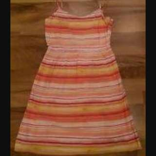 Gap spaghetti strap multicolored dress