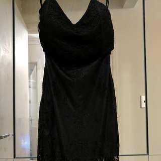 Showpony Lace Black Dress Size 6/Xs