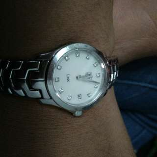 TAG Heuer Watches : WJF1414.BA0589 Quartz Mother of Pearl Diamond Dial Date Stainless Steel Women Watch