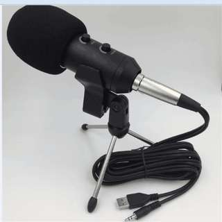 Condenser Microphone Studio Karaoke Analog and USB Hi-Fi Smule Podcasting Home studio Recording