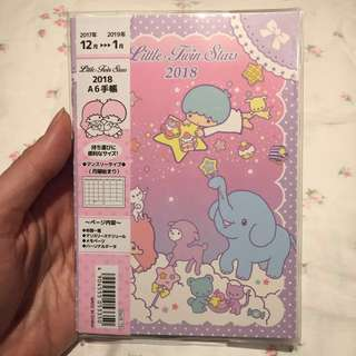 Little Twin Stars Sanrio 2018 A6 schedule book planner journal diary agenda