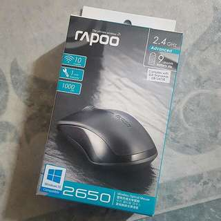 #1212YES bn rapoo wireless black optical mouse 2650