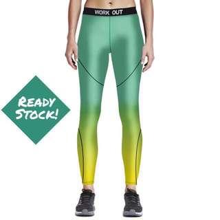 Baru!!! Celana Legging Yoga - Workout Green