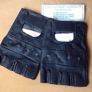 Leather Half Gloves