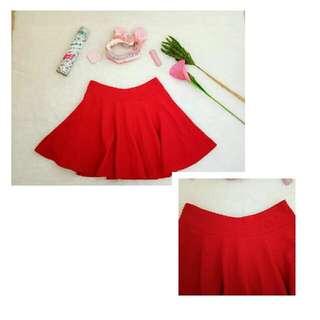 Flare Skirt /Rok Merah