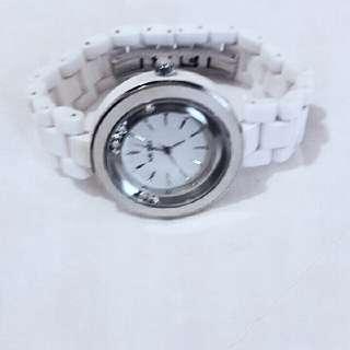 #含運最划算)旋轉水鑽陶瓷手錶