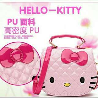 GRIMO Hello Kitty Cartoon Kid Shoulder PU Sling Bag