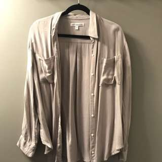 Abercrombie grey button up