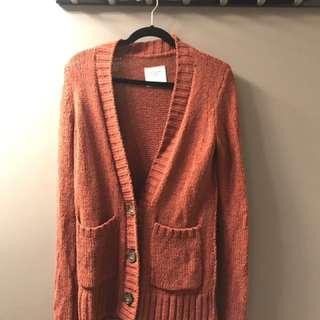 Abercrombie orange/red cardigan