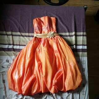Cocktail Gown Orange