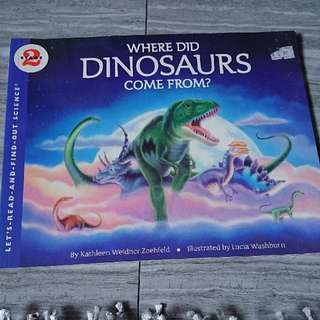 stage 2 let's read and find out science)  where did the dinosaurs come from)