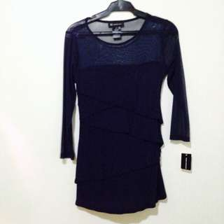 Lace/cotton blouse