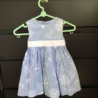 1-2years Old Baby Blue Dress