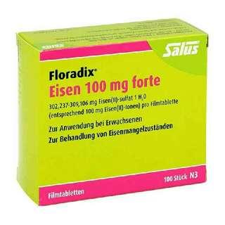 德國老牌國內貨*Salus 鐵劑 Floradix* 一排10錠補血 分享包 分裝 體驗 高單位100mg鐵元碇