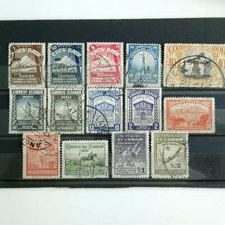 Ecuador vintage stamps