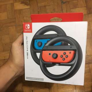 REPRICE!! Nintendo switch joy con steering wheel