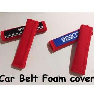 2017 JDM Car Seat Belt Cover Case Cotton Shoulder Pad Sparcos Racing