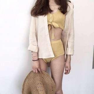 韓國Ain黃色泳裝
