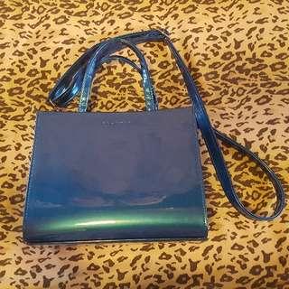 (90%新 ) Aland 令面斜揹袋【藍色】